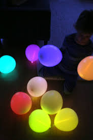 diy glow stick balloons say yes