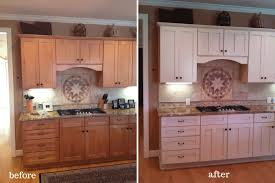 can you paint stained cabinets kitchen cabinets painted and stained felice kitchen