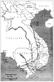 Asia Blank Map Map Depicting Plei Me Vietnam War