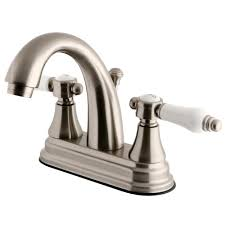 Centerset Faucet Definition by Kingston Brass English Porcelain 4 In Centerset 2 Handle High Arc