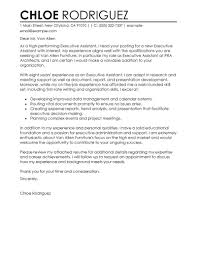 Intent Letter Sample For Job Application by Best Executive Assistant Cover Letter Examples Livecareer