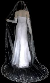 wedding veils for sale beaded embroidery cathedral length wedding veil in white