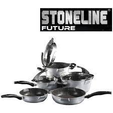 batterie de cuisine en stoneline stoneline set de 8 pièces en futur achat vente batterie