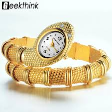 bracelet gold jewelry watches images 2018 creative designer top brand watches women unique design snake jpg