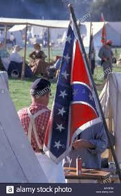 Confederate Flag Tennessee United States Confederate Flag At Historic Civil War Reenactment