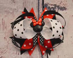 minnie mouse hair bow minnie mouse hairbow etsy