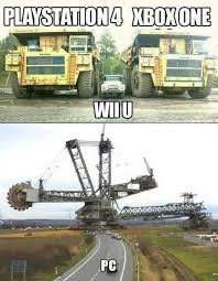 Wii U Meme - pc vs xbox one vs playstation 4 vs wii u