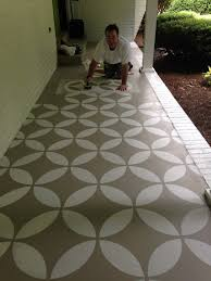 Removing Paint From Concrete Steps by Endless Moorish Circles Moroccan Stencil Porch Makeover Painted