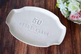 50th anniversary plate wedding anniversary gifts beautiful one of a ceramic gifts