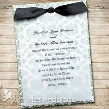 wedding invitations with ribbon green floral black ribbon layered wedding invites iwfc037