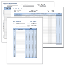 download a free weekly student attendance tracking record and a
