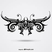 tribal butterfly tattoo vector free download