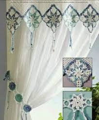 Crochet Curtain Designs Link To Free Crochet Curtain Pattern Don U0027t Like The Multi Colour