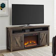 new ash black wood 70 u2033 electric fireplace tv stand with side