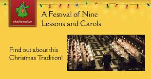 a festival of nine lessons and carols christmas customs and