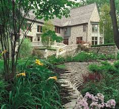 Terraced Retaining Wall Ideas by Detroit Retaining Wall Ideas Landscape Traditional With Lawn