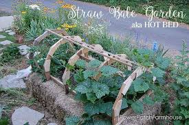 straw bale garden flower patch farmhouse