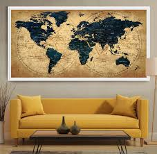United States Map Wall Art by Decorative Extra Large World Map Push Pin Travel Wall Art