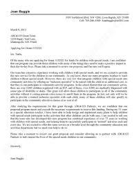 grant application cover letter sample cover letter for grant