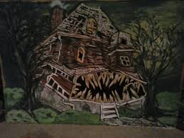 monster house my latest mural painting monster house humpty dumpty mural