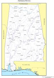 Map Of Al Alabama U0027s Watersheds