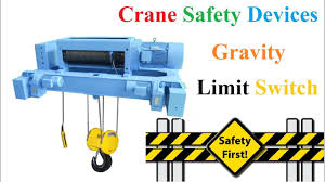 crane safety devices gravity limit switch working principle youtube