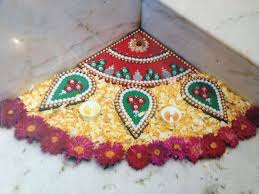 decor view rangoli decoration with flowers decorating ideas
