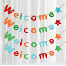 aliexpress com buy zljq 3m welcome letter flag home decoration