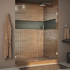 hinged glass shower door dreamline unidoor lux 60 in width frameless hinged shower door
