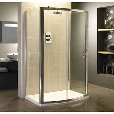 1200mm Shower Door Moods 6mm Safety Glass 1200mm Bow Fronted Sliding Shower Door