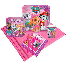 pink paw patrol 24 guest party pack walmart