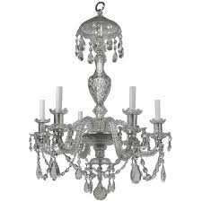 Coloured Chandelier by Georgian Style Cut Crystal Six Light Chandelier By E F Caldwell