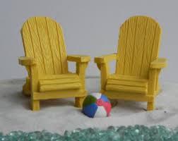 Miniature Adirondack Chair Miniature Adirondack Chair Cream Off White Fairy Beach Garden