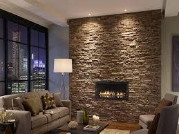 Living Room Standing Lamps Stone Wall Veneer Standing Lamp In Modern Living Room Gray Sofa