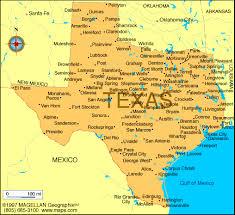 tecas map cities map