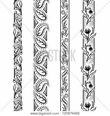 pattern is linear four linear floral patterns vector photo bigstock