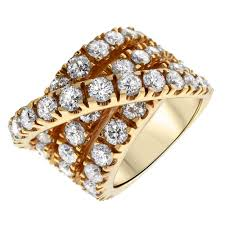 diamond cocktail rings gorgeous 14k gold 8ct diamond cocktail ring rn 38000 for sale
