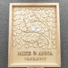 rustic wedding guest books personalised wedding guest book custom drop top drop box wedding
