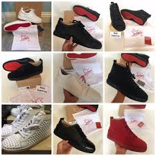 christian louboutin red bottom sneakers trainers junior high top