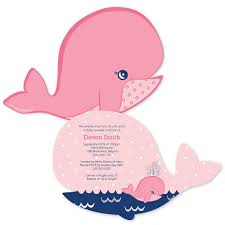 baby shower invitations girl tale of a girl whale shaped baby shower invitations