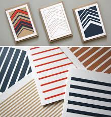 karten design stripetown herringbone cards by karte design fabrik design milk