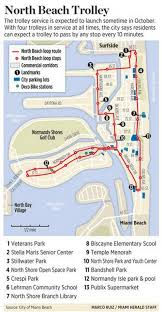 Map Of South Beach Miami by Miami Beach Adding Trolley Service In North Beach Miami Herald