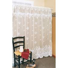 Heritage Lace Shower Curtains by Carnation Home Fashions Windsor Squares Fabric Shower Curtain