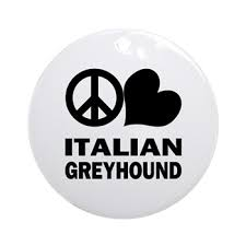 peace italian greyhound ornament peace italian