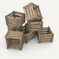 3d asset low poly wooden crate cgtrader