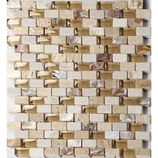 Glass Stone Mosaic Tile Backsplash Mother Of Pearl Subway Tiles - Stone glass mosaic tile backsplash
