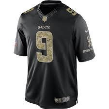 nike nfl new orleans saints men u0027s brees salute to service jersey