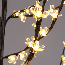 Floor Lamp Tree Branches 6 Feet Cherry Blossom Lighted Tree Floor Lamp 200 Led Lights Warm