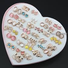 aliexpress buy 36 pairs s opal cat eye skull