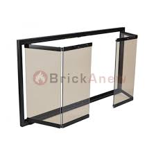 Glass Fireplace Door by Heatilator Bifold Trackless Doors With Anodized Aluminum Frame